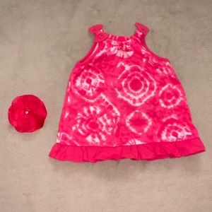 NWOT Dark Pink Tie Dyed Dress